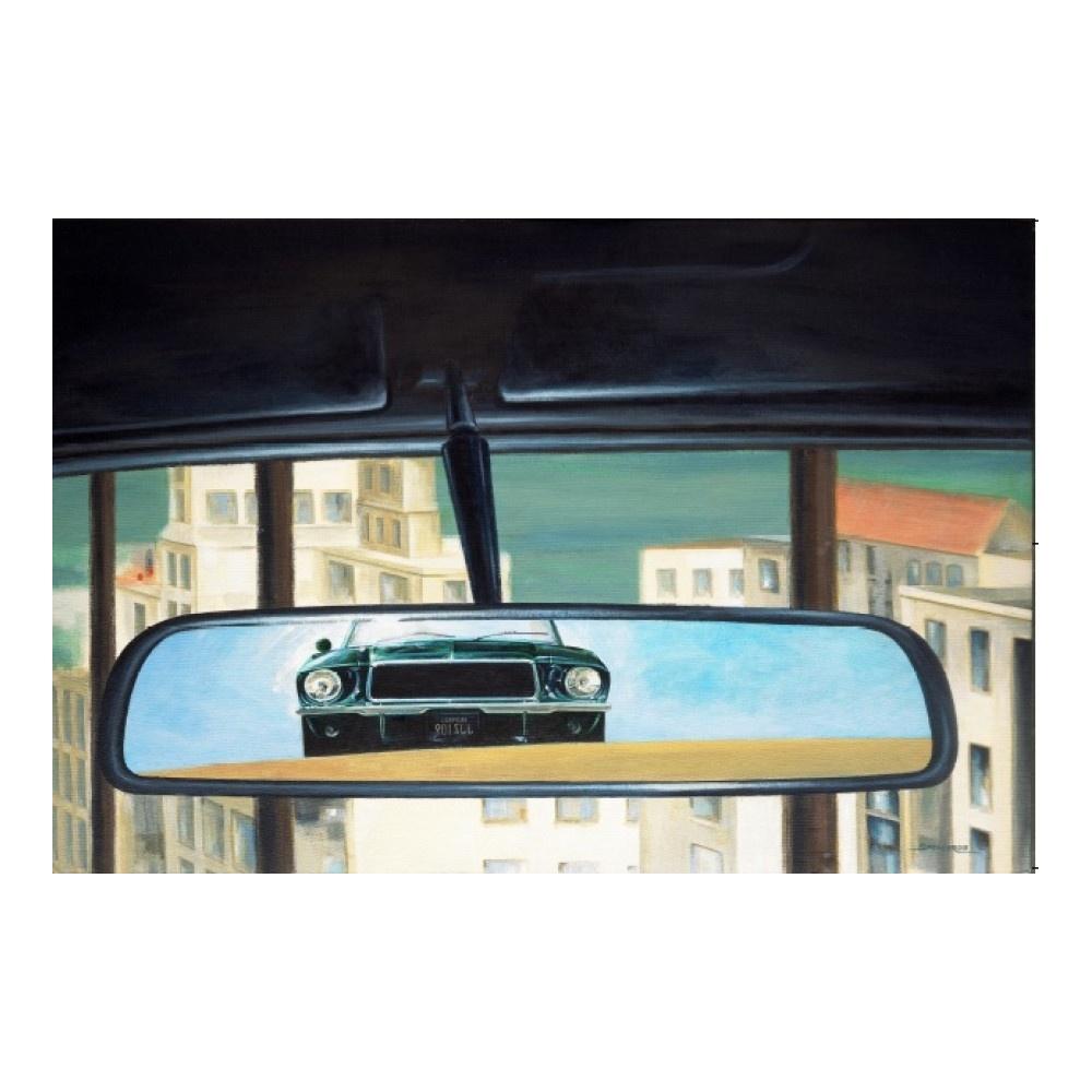 Bullitt Rear View Mirror Print From 195 Mph Uk