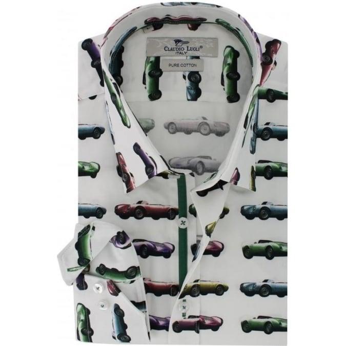 Claudio Lugli Porsche Pure Cotton Shirt White