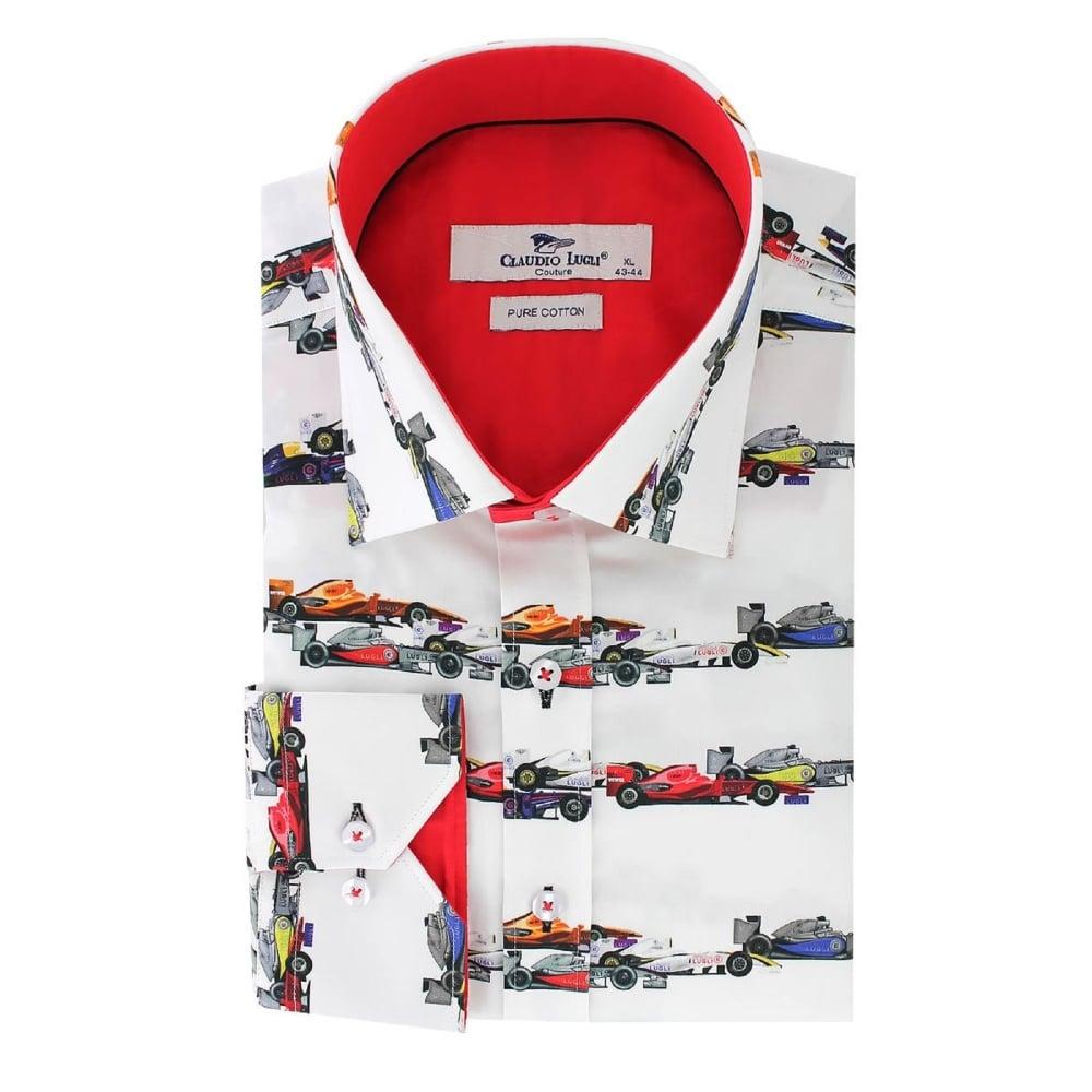 2db75153b0b Claudio Lugli Racing Car Shirt White
