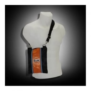 Continental Racing Gulf Collection  Pouch Bag - Orange Stripe