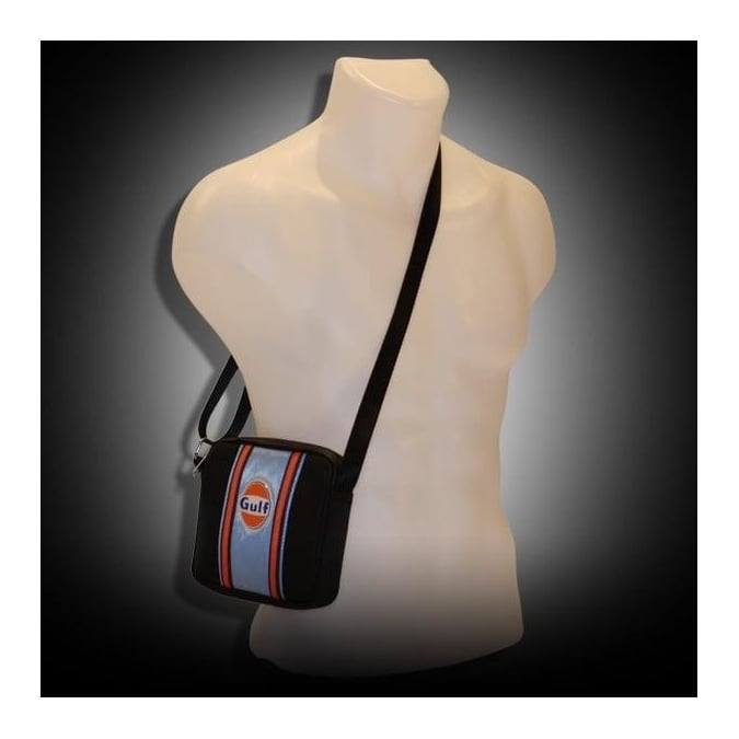 Continental Racing Gulf Collection Small Pouch Bag - Blue Stripe