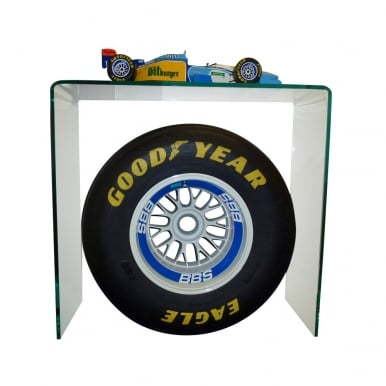 Michael Schumacher Benetton B195 1:8 scale model Rear BBS rim & Goodyear Slick Centrepiece