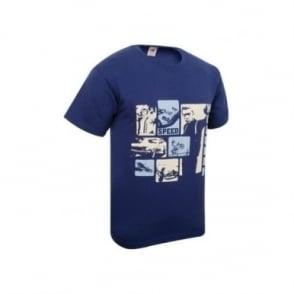 Steve McQueen Bullitt Tshirt Blue