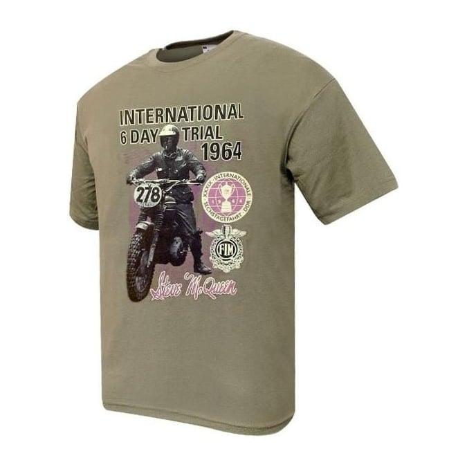 Dare Devil Steve McQueen T-Shirt (International 6 Day Trial 1964)
