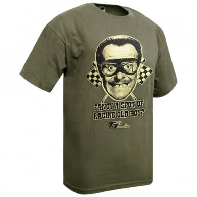 Terry Thomas T-shirt ('Fancy a spot of racing old boy)
