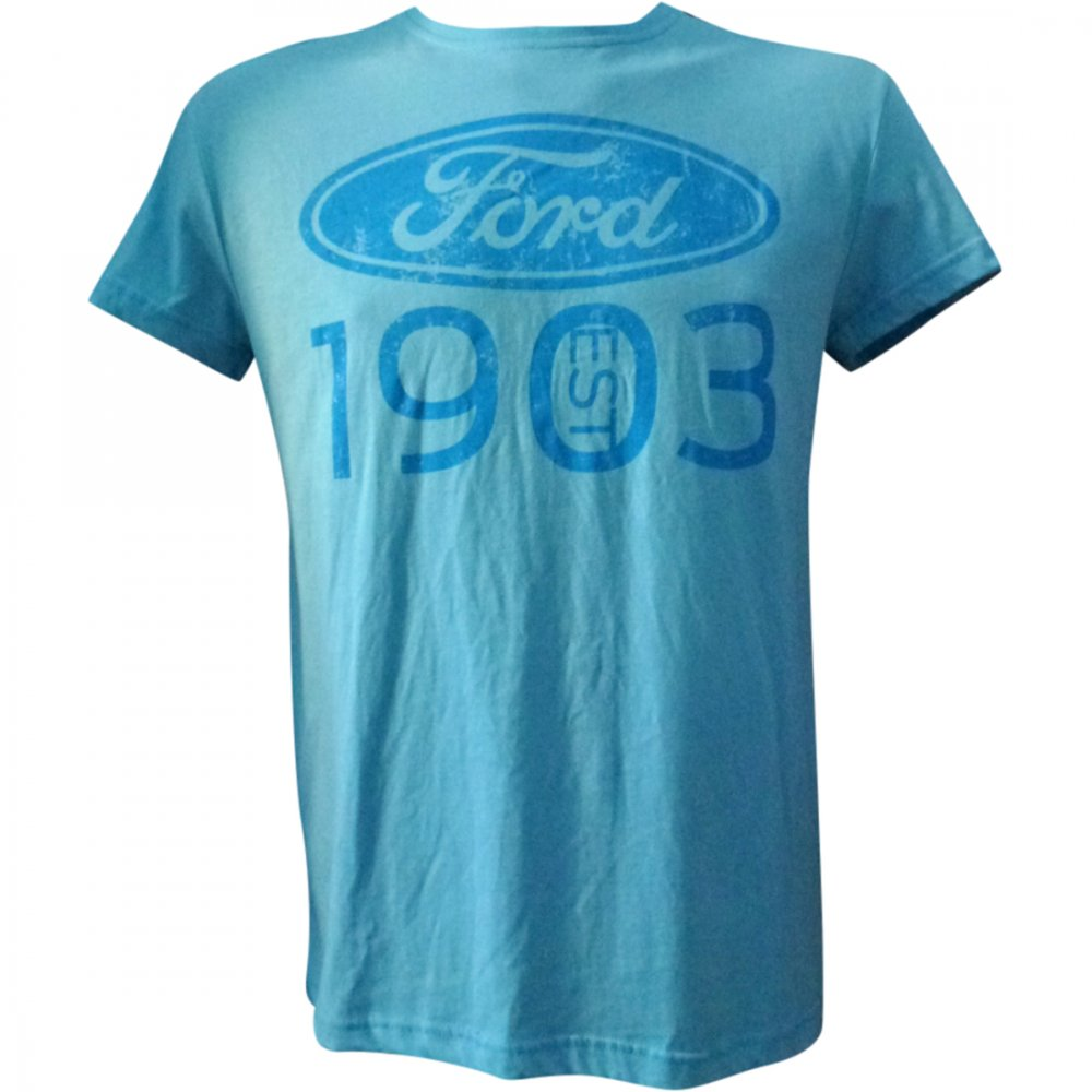 ford t shirt since 1903 light blue the formula 1 shop and. Black Bedroom Furniture Sets. Home Design Ideas