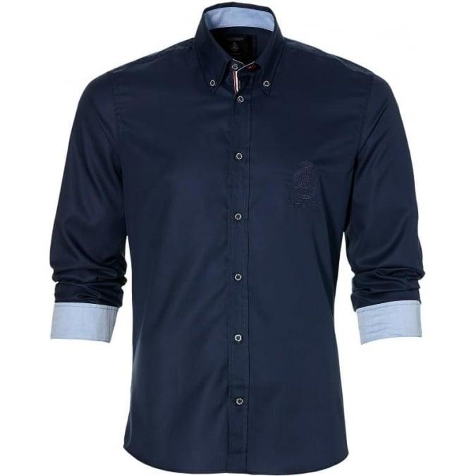 Grand Prix Monaco Racing by McGregor GP Monaco Fine Twill Mens Shirt Navy Blue