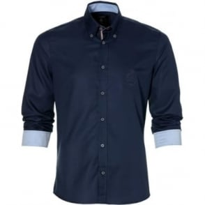 GP Monaco Fine Twill Mens Shirt Navy Blue
