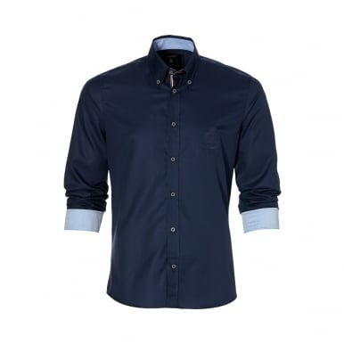 GP Monaco Fine Twill Mens Shirt Navy Blue