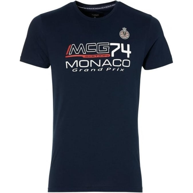 Grand Prix Monaco Racing by McGregor GP Monaco Kids Logo T-Shirt Navy Blue