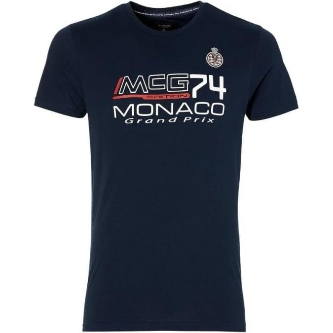 Grand Prix Monaco Racing by McGregor GP Monaco Kids Logo T-Shirt Navy Blue