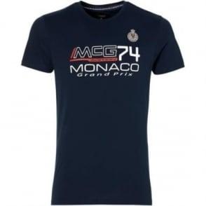 GP Monaco Kids Logo T-Shirt Navy Blue