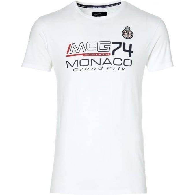 Grand Prix Monaco Racing by McGregor GP Monaco Kids Logo T-Shirt White