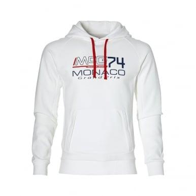 GP Monaco Mens Hoodie White