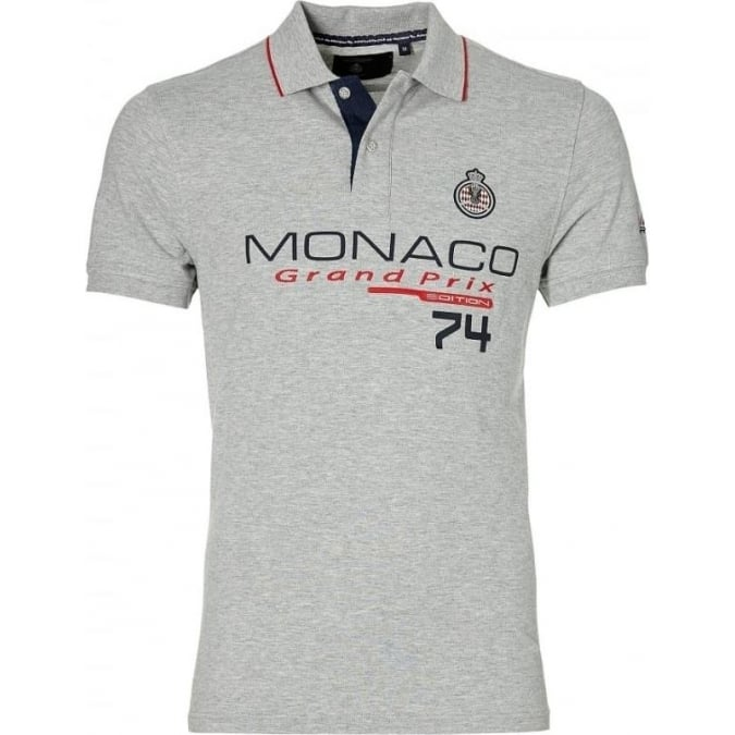 Grand Prix Monaco Racing by McGregor GP Monaco Mens Logo Polo Grey