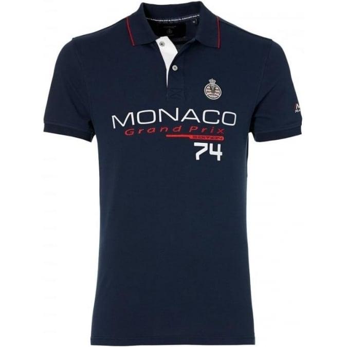 Grand Prix Monaco Racing by McGregor GP Monaco Mens Logo Polo Navy Blue