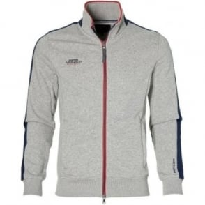 GP Monaco Mens Zip Sweatshirt Grey