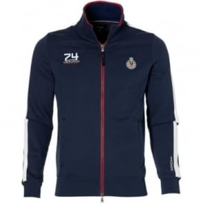 GP Monaco Mens Zip Sweatshirt Navy Blue