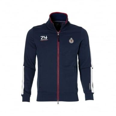 GP Monaco Mens Zip Sweatshirt Navy Blue