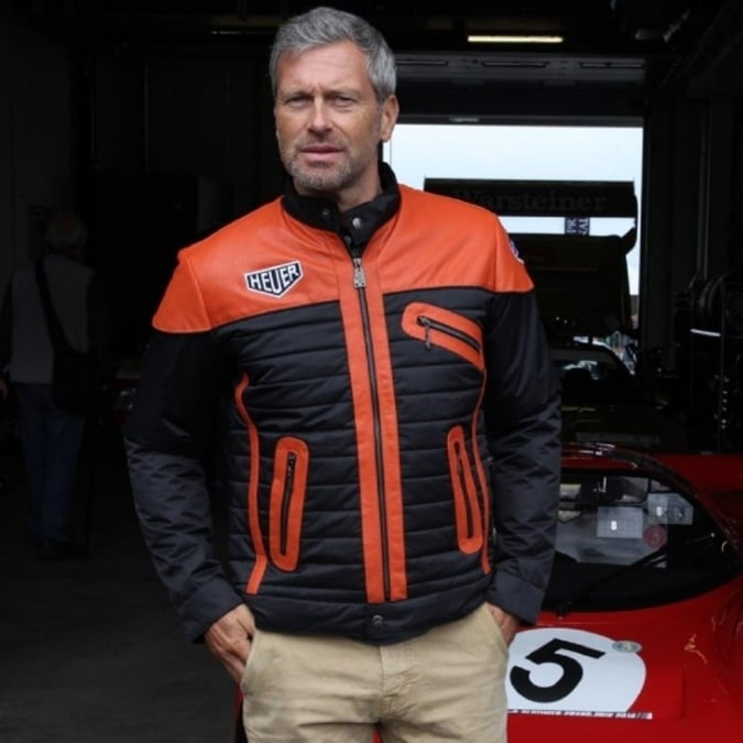 Grandprix Originals Cafe Racer Jacket Orange and Black