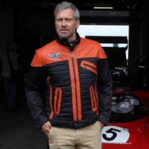 Cafe Racer Jacket Orange and Black