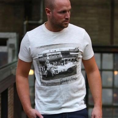 Car #20 in Pit T-Shirt Eggshell
