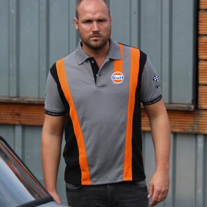 Grandprix Originals Grey`n Orange Racing Polo