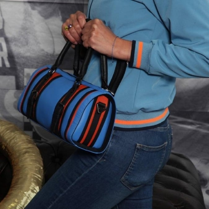 Grandprix Originals Gulf Leather Bowling Bag