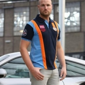 Gulf Racing Team Polo Navy Blue
