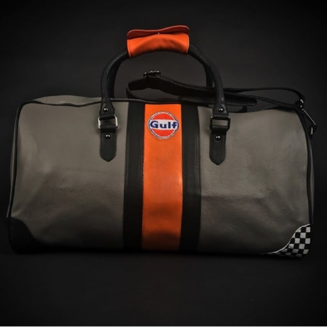 Grandprix Originals Gulf Racing Travelbag Orange and Grey