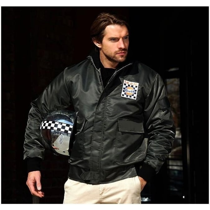Grandprix Originals Gulf Team Jacket Gunmetal