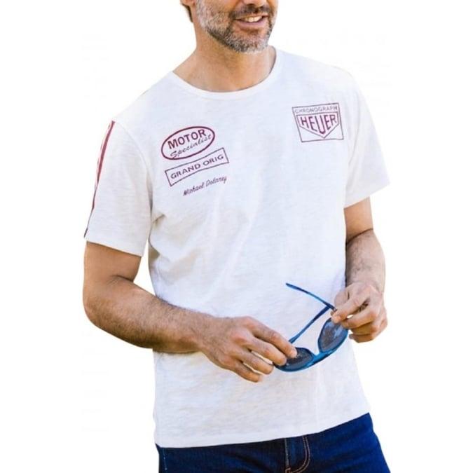 Grandprix Originals Heuer Racing T-Shirt Offwhite