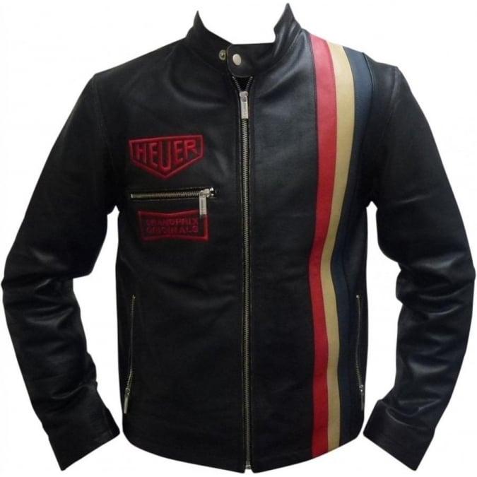 Grandprix Originals Heuer Vintage Leather Jacket Black