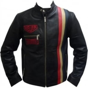 Heuer Vintage Leather Jacket Black