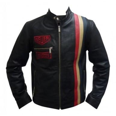 Heuer Vintage Leather Jacket Black