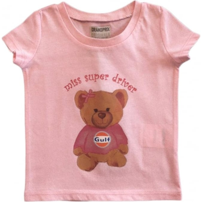 Grandprix Originals Kids Gulf bear T-Shirt Pink