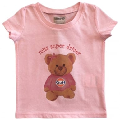 Kids Gulf bear T-Shirt Pink