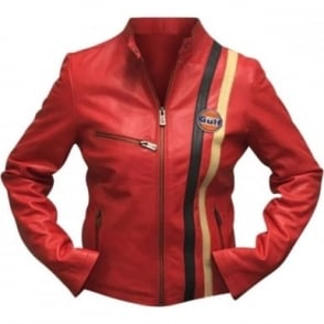 Ladies GP Leather Jacket Red