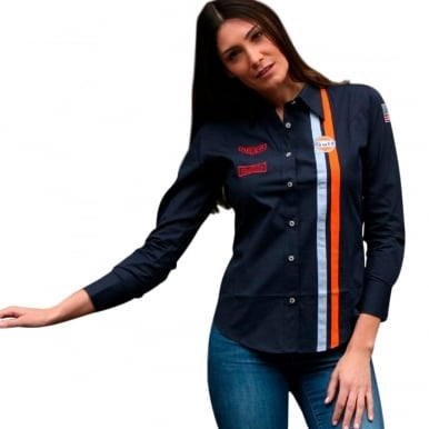 Ladies MD Blouse Navy Blue