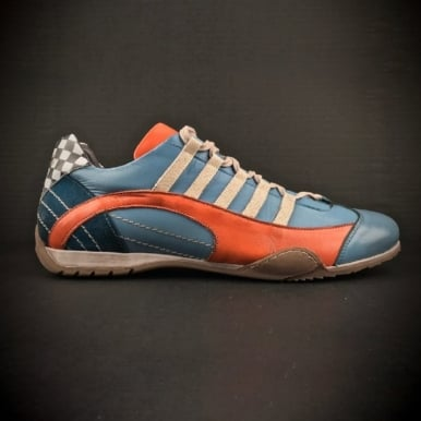 Ladies Racing Sneaker Light Blue