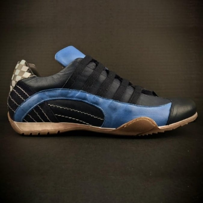 Grandprix Originals Ladies Racing Sneaker Navy Blue
