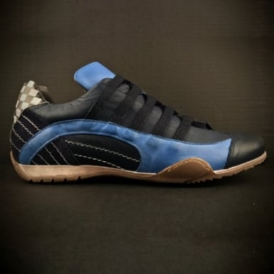 Ladies Racing Sneaker Navy Blue