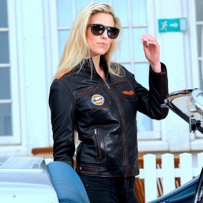 Grandprix Originals Le Black Cuir Ladies Leather Jacket