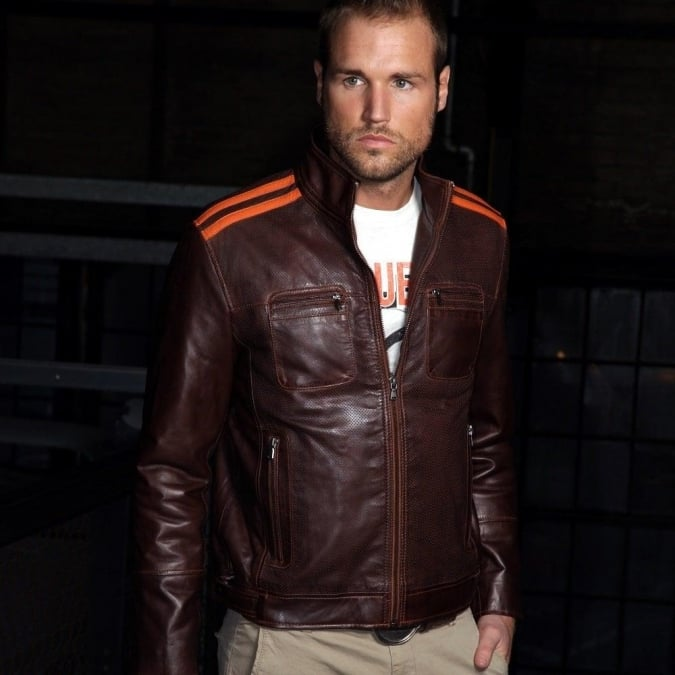 Grandprix Originals Le Cuir Brown Leather Jacket