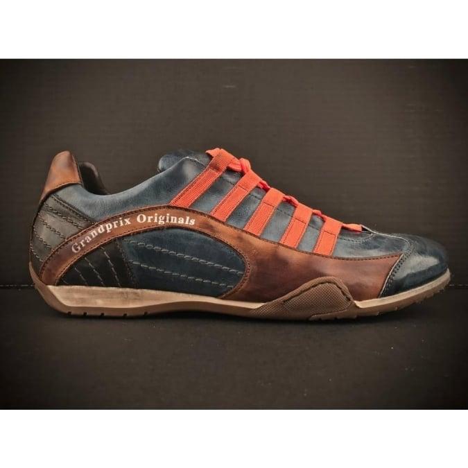 Grandprix Originals Racing Leather Sneakers Monza Indigo