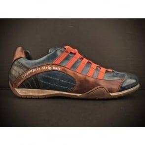Racing Leather Sneakers Monza Indigo