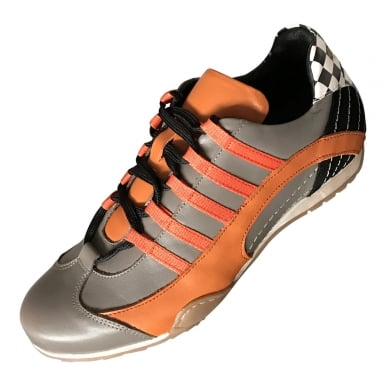 Racing Sneaker Grey and Orange