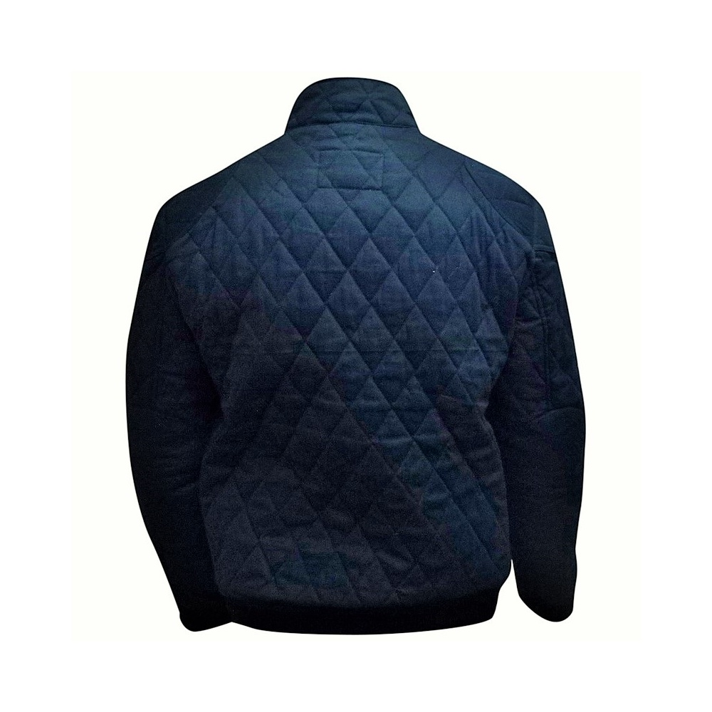 Stewart blouson navy blue quilted jacket the formula 1 shop and more