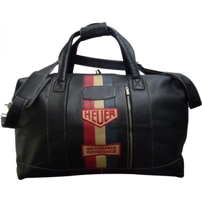 Grandprix Originals Vintage Heuer Leather Travelbag Small Black