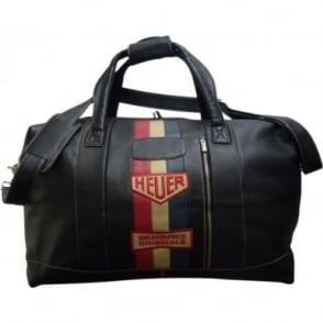 Vintage Heuer Leather Travelbag Small Black